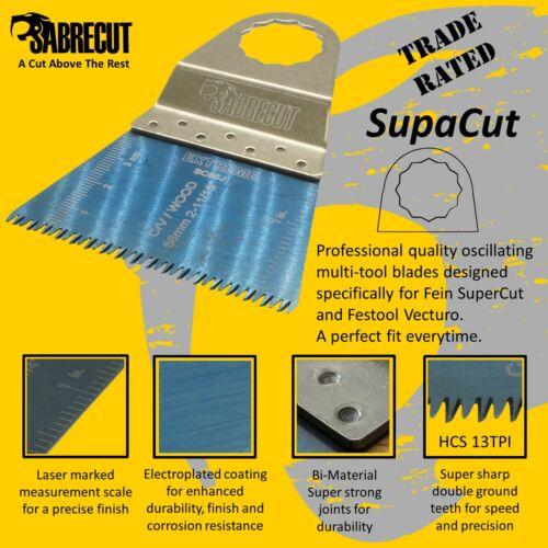 6x Sabrecut 68 mm Grossier des lames Fein SuperCut et FESTOOL Vecturo Outils Multifonction