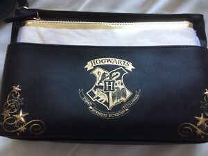 Image Is Loading Harry Potter Cosmetic Bags Hogwarts Handbag Black And