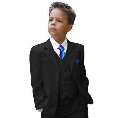 Paul Malone Kinder Anzug für Jungen festlich 6tlg Kommunionanzug schwarz uni   eBay