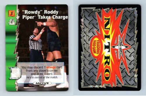 "/""Rowdy/"" Roddy Piper prend charge-WCW NITRO 2000 Common TCG Carte"
