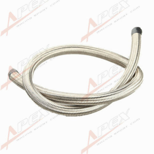 16AN AN16 Stainless Steel Double Braided 1500 PSI Oil Fuel Gas Line Hose