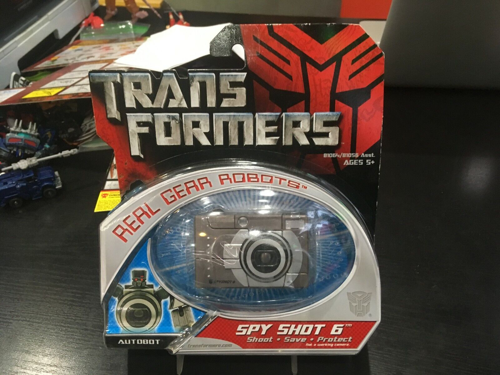 TRANSFORMERS REAL REAL REAL GEAR ROBOTS SPY SHOT 6 HASBRO STANDARD GREEN TAG 57d969