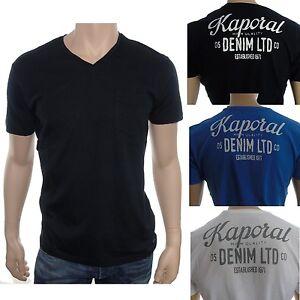 T shirt kaporal homme manches courtes LORDI noir , bleu ou blanc ... 45fb3b03e959