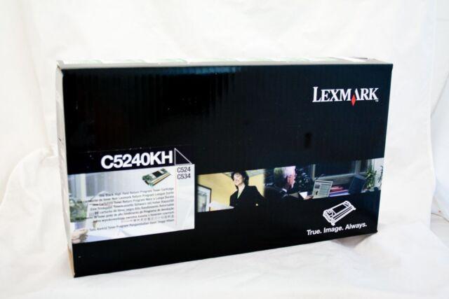 original Lexmark Toner C5242KH C5240KH schwarz für C524 C534  neu B