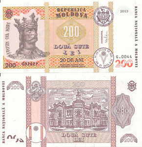 Moldova-Moldova-57-200-Lei-2013-UNC-Pick-20-Commemoration-issue