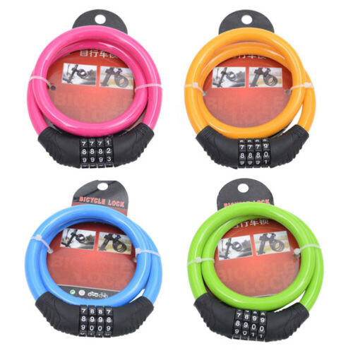 Bicycle Bike Cycle Lock Resettable 4 Digit Dial Code Combination Security Sight