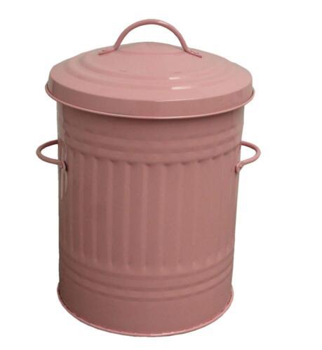 Rose Vert 30 L Litres Galvanisé Métal Poubelle Rubbish Waste Poubelle animale