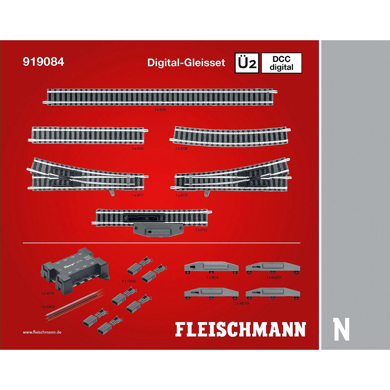 Fleischuomon 919084 N Profi-binario DCC DIGITAL-gleisset ü2 + + + + NUOVO & OVP + + a455de