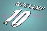 Arsenal Bergkamp #10 PREMIER LEAGUE 97-06 White Name/Number Set