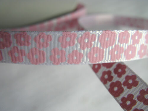 Patterned grosgrain ribbon 10mm 25mm craft sewing scrapbooking lots of colours