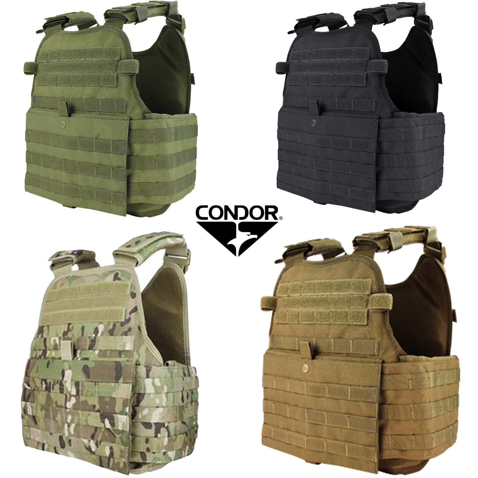 Condor MOLLE PALS Operator Plate Carrier Body  Armor Chest Assault Rig Vest MOPC  hot sale online
