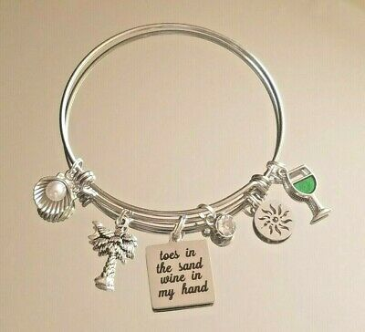 Book Lover Gift Book Jewelry Beach Cruise Jewelry - BOOK Lover Book In my Hand Toes In the Sand  Beach Bracelet Book Necklace