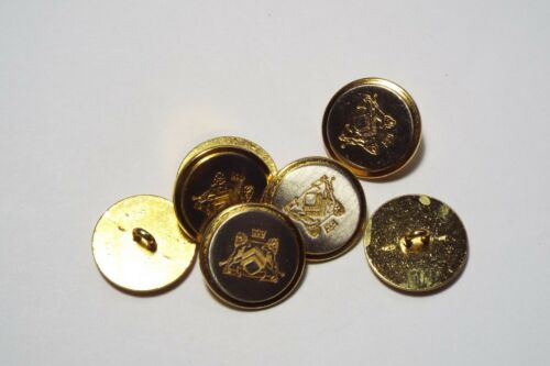 8pc 20mm Gold And Silver Crested Military Metal Blazer Coat Cardigan Button 2857