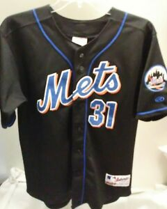 hot sale online 9294c a848f Details about Mike Piazza Rawlings Authentic Youth Jersey Sz 18/20 New York  Mets Mens Boys