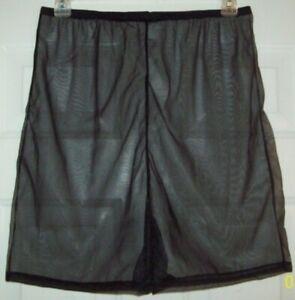 "NAVY BLUE 2 Layer NYLON TRICOT Boxers PETTIPANT Shorts  34-48/""  Waist 16/"" Long"