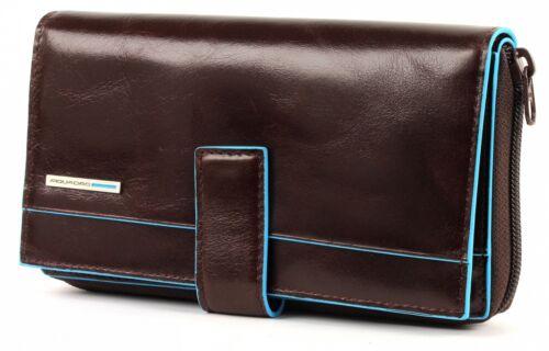 Braun Blue Mogano Piquadro Rfid Purse Large Square Geldbörse Neu Blau 4xHH06