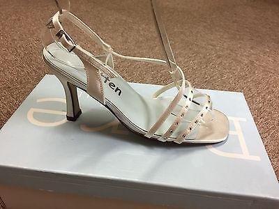 Mujer Marfil Raso novia, boda, Dama De Honor Zapato Todas Las Tallas Estilo IRIS