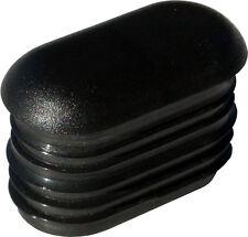 24x Endkappe Kunststoff Stopfen Moebel Gleiter Büro Garten Laden Stuhl schwarz