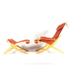 1-of-2-Retro-Vintage-Danish-Lounge-Easy-Chair-Armchair-Footstool-Ottoman-70s