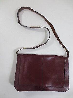 Tasche LP Handtasche Clutch Schultertasche Leder weinrot bordeaux vintage /G6