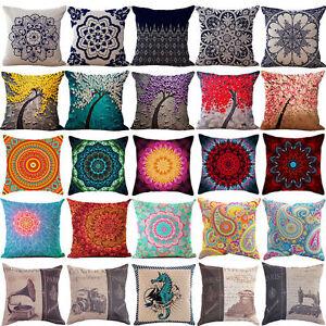 Am-18-034-Vintage-Linen-Cotton-Throw-Pillow-Case-Cushion-Cover-Home-Sofa-Decor-Nov