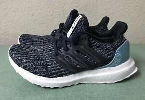 Details about Adidas Ultra Boost Parley J Juniors Youth Sz 4 Women's Sz 5 Black Blue CP8778