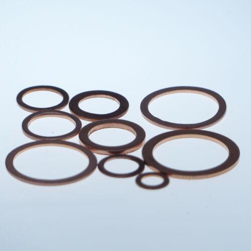 100 Stück Kupferringe Dichtringe 6x12x1mm Gewinde M 6