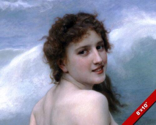 BEAUTIFUL WOMAN PORTRAIT BOUGUEREAUFINE ART PAINTING REAL CANVAS GICLEE PRINT