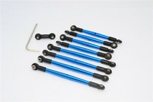 GPM Blue Aluminum Front Steering Toe Links for X-Maxx