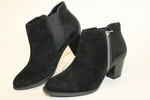 Vionic Size 8 Wide 39 Womens Leather Zip Comfort Heels Anne Ankle Boots TVW4837