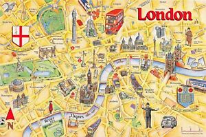 City-of-London-Map-Card-Postcard-by-Crossroads-Postcards-No-90-77M