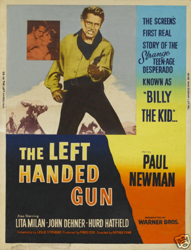 The left handed gun Paul Newman vintage movie poster