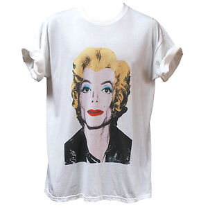 Funny-Michael-Jackson-Pop-Art-T-shirt-Warhol-Marilyn-Monroe-Men-039-s-Women-039-s-Tee