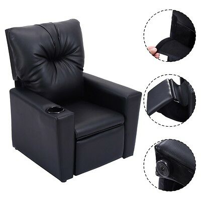 Pleasing Baby Kids Sofa Recliner Leather Ergonomic Lounge Chair W Cup Holder Furniture Us Ebay Dailytribune Chair Design For Home Dailytribuneorg