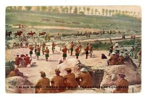 Scotland-Military-WW1-BLACKWATCH-PIPERS-AT-LONGUEVAL