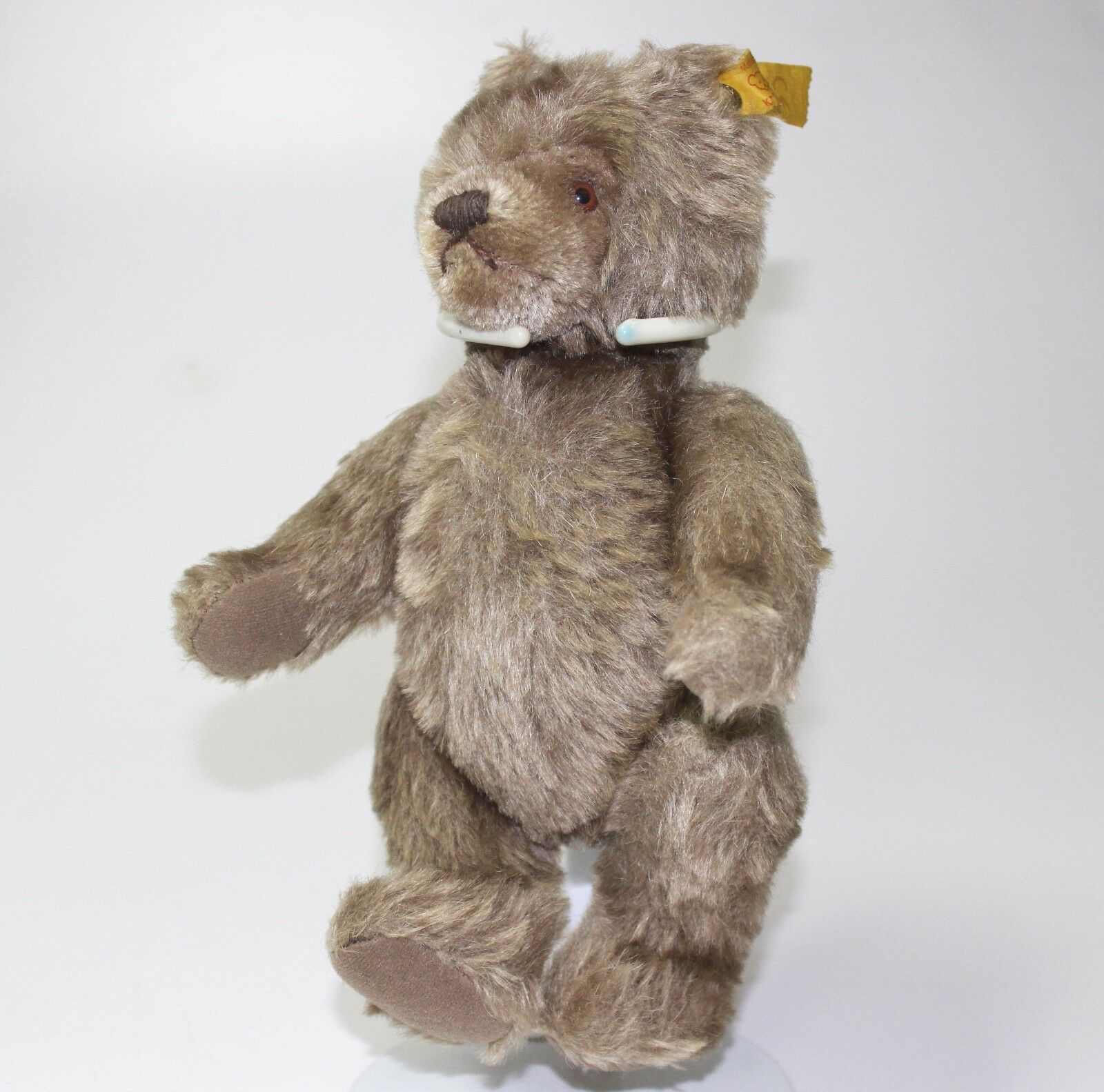 VTG STEIFF TEDDY JOINTED Marrone BEAR PLUSH TOY GERMAN  BUTTON EAR 22 CM 0202/26