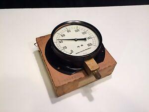 "Marsh Instrument Company 4 1/2"" Bronze Bushed Movement Pressure Gauge 0-160 PSI"