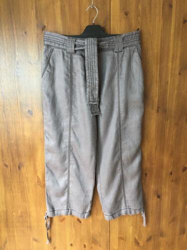 RRP £ 99 Wrap London Été Pantalon Capri Crop Linen UK 10//EUR 38-NEUF