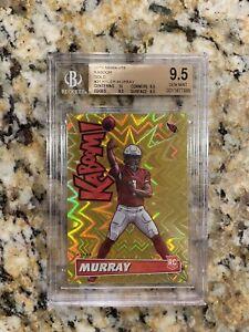 2019 Absolute Football Kyler Murray Gold Kaboom Rookie /10 BGS 9.5 Cardinals Rc