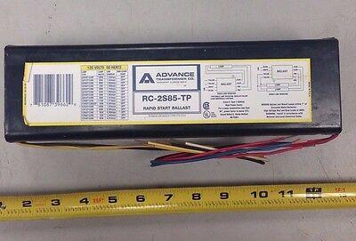 2 ADVANCE//PHILIPS RC2S85TP RAPID START BALLAST FOR F72T12 LAMPS 120V//60Hz