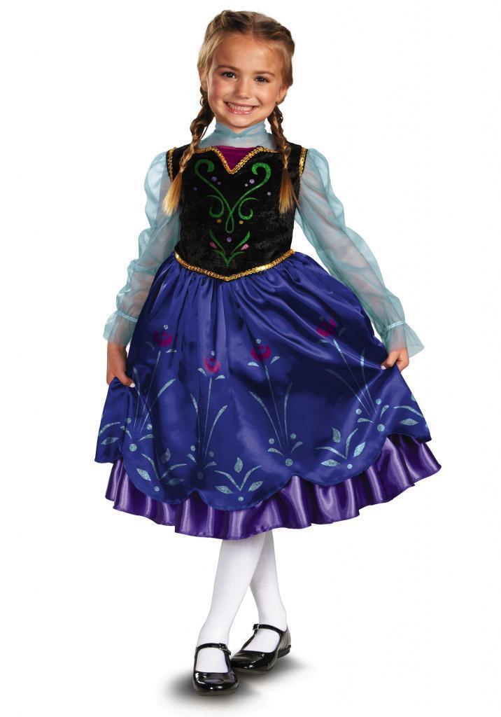 Girls Disney Frozen ANNA Deluxe Classic Child Costume