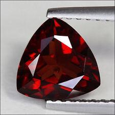 Un par de 6mm Trilliant-faceta Rojo Oscuro Natural Granate Mozambique Gemas £ 1 Nr!