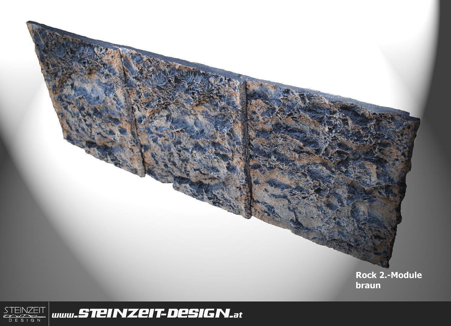 AQUARIUMRÜCKWAND   Rock-II Rückwand Modul 150x55cm braun Aquarien Terrarien 3D