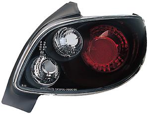 1998-2008 Peugeot 206 Pair Clear Lens Black Rear Back Tail Lexus Lights Lamp