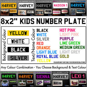 Image is loading 8x2-034-Kids-Plastic-Number-Plate-Ride-On-  sc 1 st  eBay & 8x2
