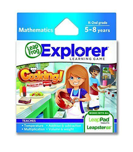 Läppsgrodans matlagning av recept på det Road Learning spel fungerar med LeapPad GS