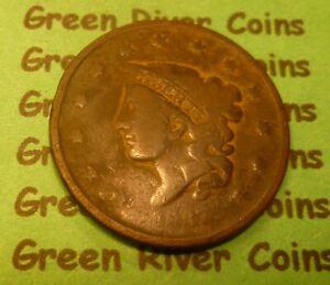 1837  U S Coronet Head Large  Cent   #37S       (1816-1839) low grade
