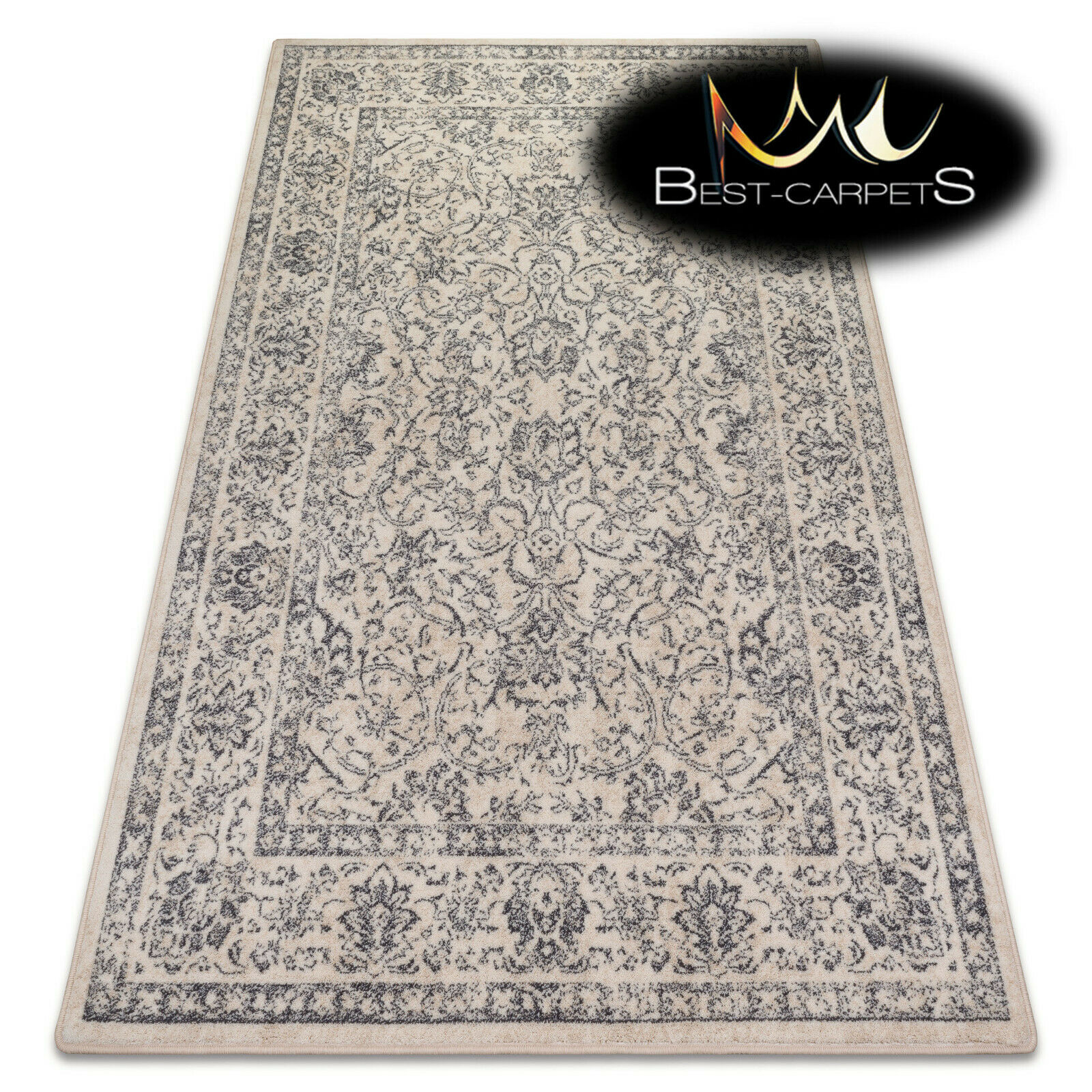 AMAZING NATURAL WOOL RUGS Temion Flowers cream modern designs  Beste carpets