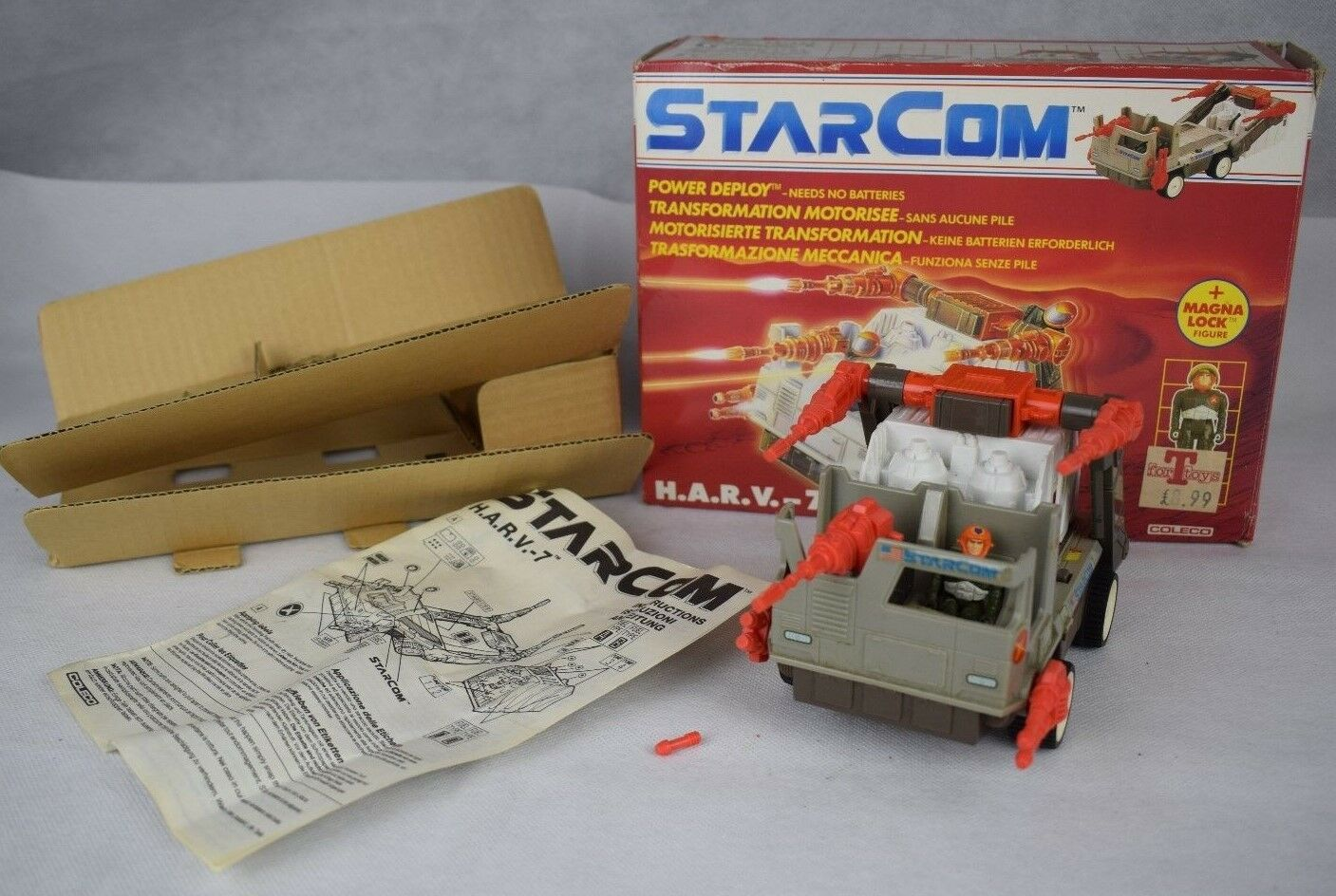 Boxed Starcom HARV-7, FUEL TRUCK, COLLECO, 1980S, VINTAGE TOY, SPACE,