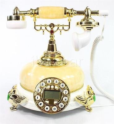 Vintage Classic Retro Marble Phone Antique Style (White) #12C